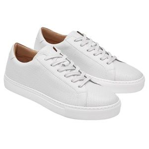 Greats Royale Perforated Leather Sneaker White